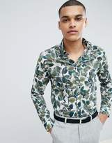 Selected Homme+ Slim Fit Shirt With All Over Print