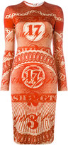 Givenchy dollar print fitted dress - women - Silk/Spandex/Elastane/Acetate/Viscose - M