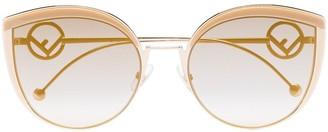 Fendi Eyewear F is Fendi cat-eye sunglasses
