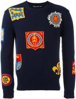 Alexander McQueen badge intarsia jumper