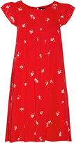 Hatch Lula Ruffle-trimmed Printed Cotton-voile Dress - Red