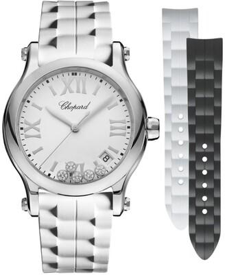 Chopard Stainless Steel Happy Sport Quartz Watch 36mm