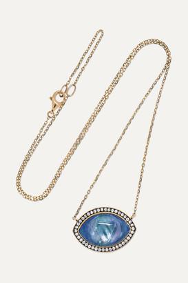 Noor Fares Ajna 18-karat Gray-gold Multi-stone Necklace
