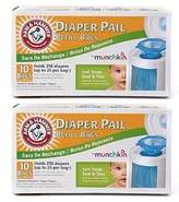 Munchkin Arm & Hammer Diaper Pail Refill Bags 10-Count by Arm & Hammer