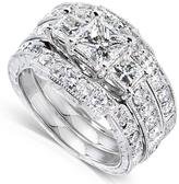 Ice 1 7/8 CT TW Princess Diamond 3-Ring Bridal Set in 14K White Gold