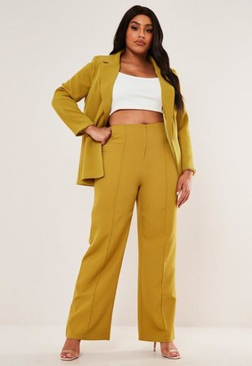 Missguided Size Olive Co Ord Basic Wide Leg Trousers