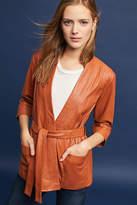Just Female Leather Wrap Jacket