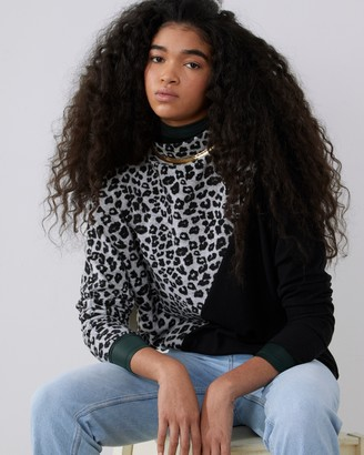 Vince Camuto Print-Block Pullover