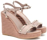Valentino Garavani Torchon leather wedge sandals