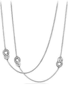 David Yurman Belmont® Curb Link Four Station Chain Necklace With