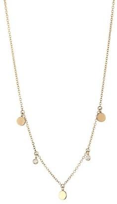 Zoë Chicco Diamond & 14K Yellow Gold Disc Choker Necklace
