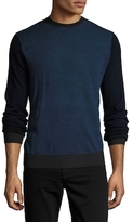 Toscano Colorblocked Crewneck Sweater