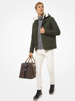 Michael Kors Sherpa-Trim Canvas Parka
