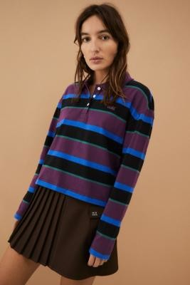 Vans Stripe It Polo Shirt - Black S at Urban Outfitters