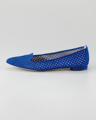 Manolo Blahnik Sharifac Perforated Loafer