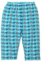 Zutano Newborn Pull-On Car Print Pant in Aqua