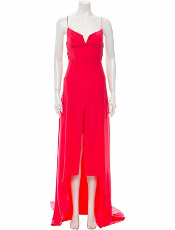 Narciso Rodriguez Silk Long Dress Pink