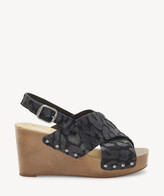Lucky Brand Women's Zelka2 In Color: Black Shoes Size 5 Haircalf From Sole Society