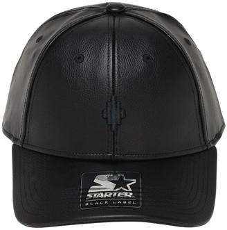 Marcelo Burlon County of Milan Cross Logo Starter Faux Leather Cap