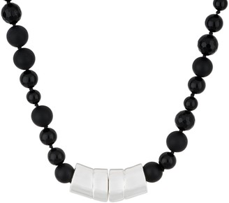Simon Sebbag Sterling Silver Mixed Onyx Magnetic Necklace