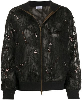 Brunello Cucinelli Embroidered Bomber Jacket