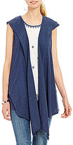 Vince Camuto Two By Cotton Slub Drape Vest