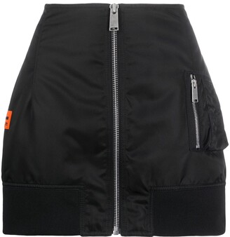 Heron Preston Logo Patch Detail Zip-Up Skirt