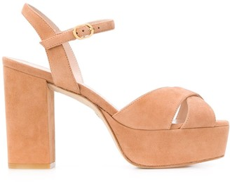 Stuart Weitzman Crossover Straps 110mm Heeled Sandals