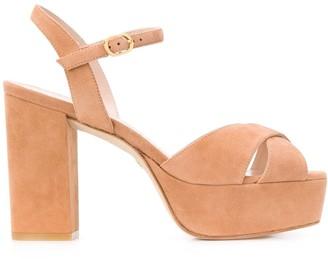 Stuart Weitzman crossover straps 110mm heeled sandals
