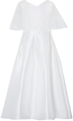 Monsoon Sherry White Cape Occasion Dress White