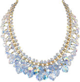 One Kings Lane Vintage Blue AB Crystal Cluster Necklace