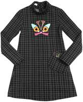 I Pinco Pallino Embroidered Knitted Wool Blend Dress