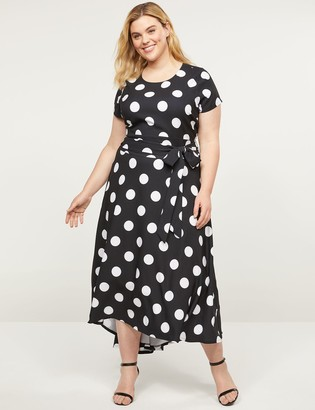 Lane Bryant Lena High-Low Belted Maxi Dress