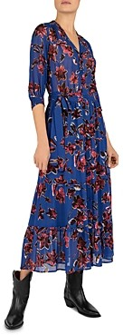 Gerard Darel Solidea Floral Print Wrap Dress