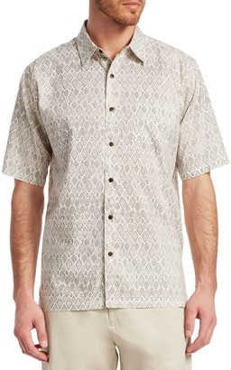 Saks Fifth Avenue Diamond Print Shirt