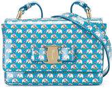 Salvatore Ferragamo Kids - elephant print shoulder bag - kids - Leather - One Size