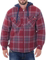 Dickies Long Sleeve Hooded Quilted Flannel Shirt - Big & Tall