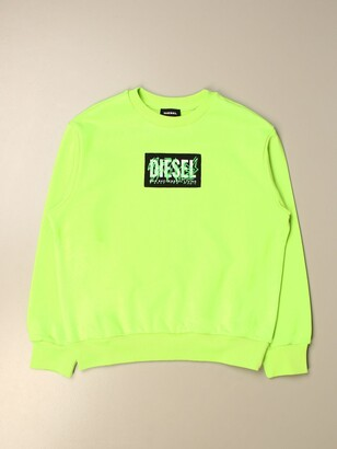 Diesel Crewneck Sweatshirt With Graffiti Logo