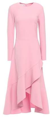 Oscar de la Renta Ruffled Stretch-crepe Midi Dress
