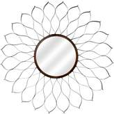 MCS 24-Inch Round Metal Dahlia Mirror Body with 9-Inch Mirror, Oil Rubbed Bronze