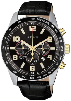 Citizen AN8166-05E, Gold Leather