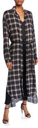 Loyd/Ford Sparkled Plaid Maxi Duster Dress
