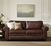Pottery Barn Pearce Leather Sleeper Sofa