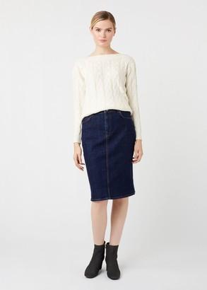 Hobbs Louisa Denim Skirt