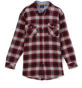 Burnside Cement Zander Plaid Flannel Button-Up - Boys