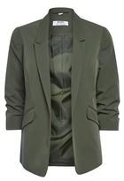 Dorothy Perkins Womens Dp Petite Khaki Ruched Sleeve Jacket