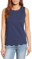 Women's Halogen Scalloped Tank