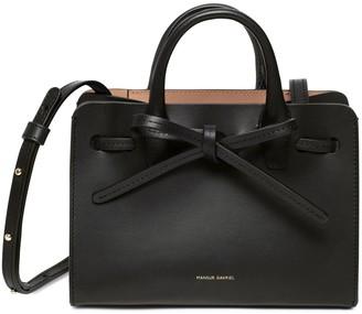 Mansur Gavriel Mini Mini Sun Bag - Black/Camello