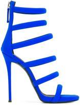 Giuseppe Zanotti Design Chantal sandals - women - Cotton/Leather/Nylon/Spandex/Elastane - 38.5