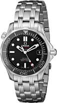 Omega Men's O21230362001002 Seamaster Analog Display Automatic Self Wind Silver Watch